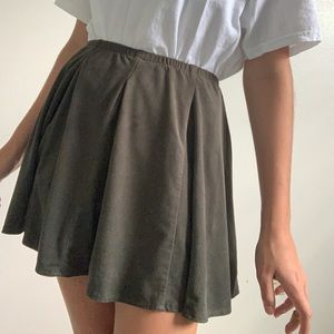 Brandy Melville dark green suede skirt